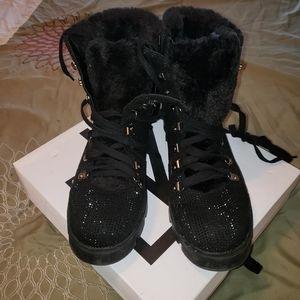 Sparkle combat boots
